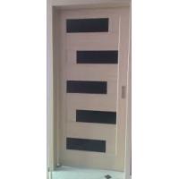Двері Ностра Пиана ясен new з чорним склом