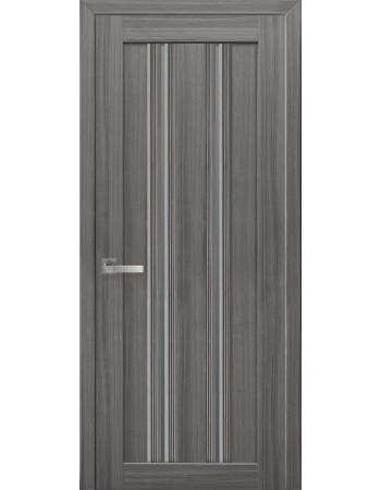 Двери Новый Стиль Итальяно Верона С1 со стеклом жемчуг графит