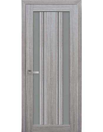 Дверь Итальяно Верона С2 жемчуг серебряный с графитовым стеклом
