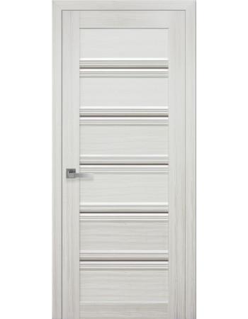 Дверь Итальяно Виченца С1 жемчуг белый с бронзовым стеклом