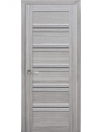 Дверь Итальяно Виченца С1 жемчуг серебряный с черным стеклом