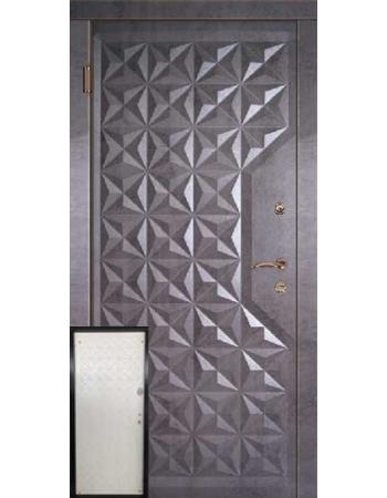 Вхідні двері ТМ Портала Граф 4 / Граф 2 - темний бетон/біла структура мат
