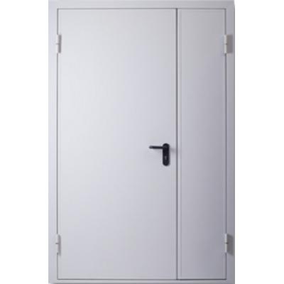 Двери Полуторные Технические EI 60 Шагрень RAL 7035