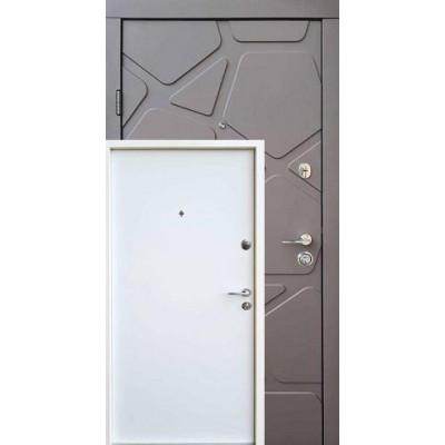 Двери Qdoors (Премиум) Делюкс/Гладь Карамельное дерево софт/Белое дерево (Квартира)