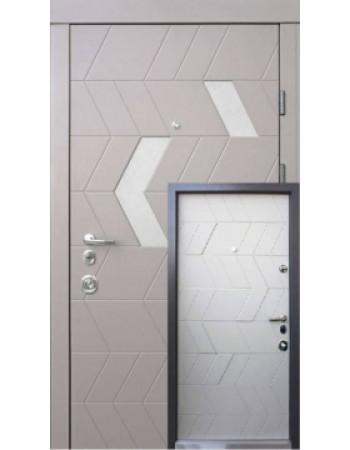 Входная дверь QDOORS серия АВАНГАРД модель Конверс-М Амаретто/грей софт