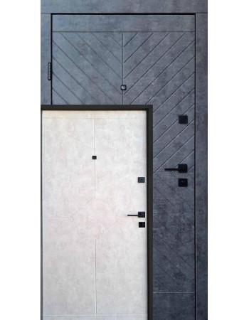 Двері Qdoors (Преміум) Некст  Мармур темний / Бетон бежевий (Квартира)