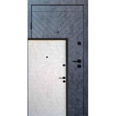 Двери Qdoors (Премиум) Некст  Мрамор темний/Бетон бежевий (Квартира)