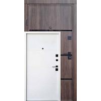 Вхідні двері QDOORS серія Ультра модель Аккорд-Ac Дуб тютюн / біле дерево