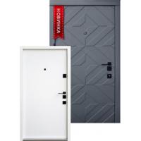 Вхідні двері QDOORS серія АВАНГАРД модель Тіффані біла всередині