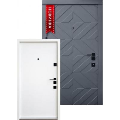 Входная дверь QDOORS серия АВАНГАРД модель Тиффани БЕЛАЯ внутри