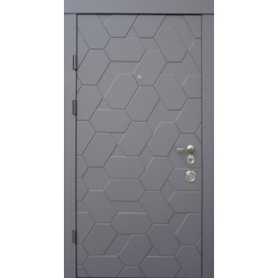 Входная дверь QDOORS серия АВАНГАРД модель ПОЛО белая внутри