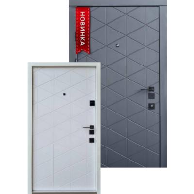 Входная дверь QDOORS серия АВАНГАРД модель Бакарди БЕЛАЯ внутри