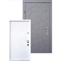 Вхідні двері QDOORS серія АВАНГАРД модель ПОЛО біла всередині
