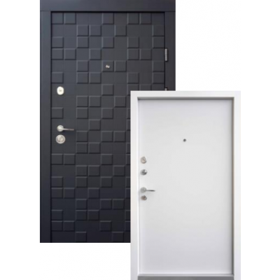 Входная дверь QDOORS серия Ультра модель Онтарио Черный софт