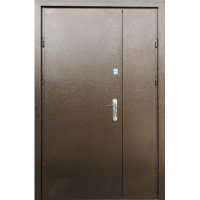 Двери полуторные Метал/Метел с притвором