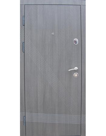 Двері Діагональ еко каштан (дві труби)