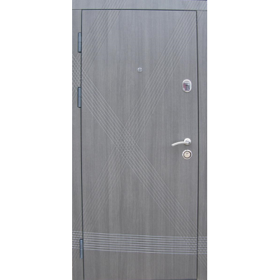 Двери Диагональ эко каштан (две трубы)