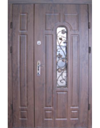 Двери полуторные Арка с ковкой