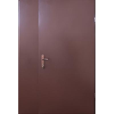 Двері Технічні полуторні 2 листа метал/метал вулиця