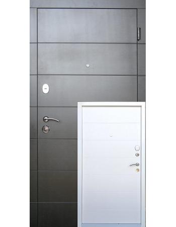 Двері Елегант Стандарт Плюс (два кольори біла коробка)