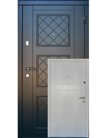 Вхідні двері Redfort серія Оптима модель Верона біла зсередини