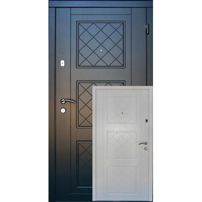 Входная дверь Redfort серия Оптима модель Верона белая внутри