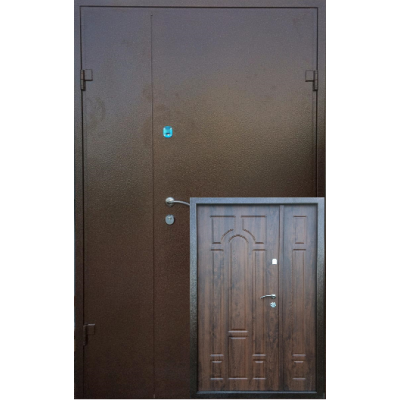 Двери полуторные Метал/МДФ Арка Оптима плюс
