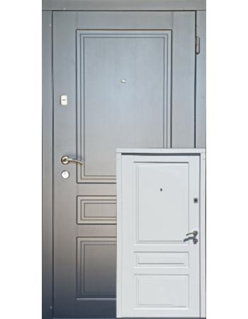 Вхідні двері Redfort серія Оптима модель Гранд біла зсередини