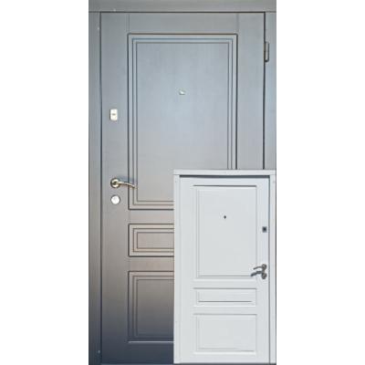 Входная дверь Redfort серия Оптима модель Гранд белая внутри