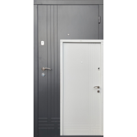 Вхідні двері Сіті Лайт вулична Оптима біла з середини