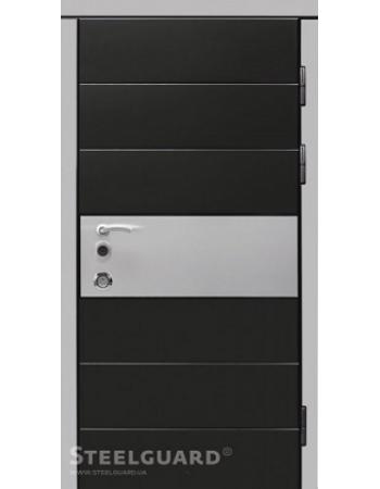 Двери Steelguard ITALY Чёрный мат/Белый глянец