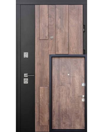 Двері Страж Lumina Квартира Спил дерева коньячний / Софт блек