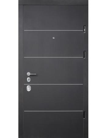 Вхідні двері Страж Prestig Соло Софт Блек / Софт Мілк