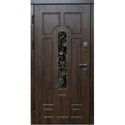 Входные двери Very Dveri Арка с ковкой дуб бронзовый улица (серия VIP+)